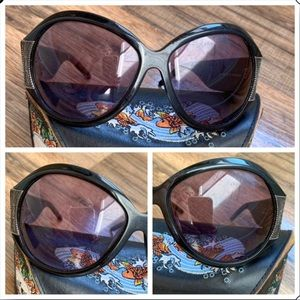Ed Hardy Accessories - Ed Hardy Vintage Koi Sunglasses and Case